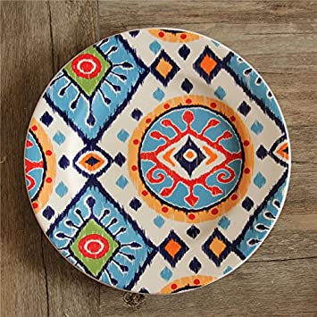 Lecent@ Exotic African Eye Decoration Plate Ceramic Tableware Steek Plate Western-food Plate 8.5 & Amazon.com | Lecent@ Exotic African Eye Decoration Plate Ceramic ...