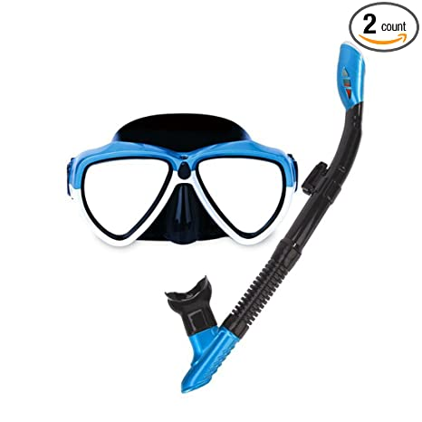 f6c89a9c665 Amazon.com   Dry Top Snorkel Mask for Adult
