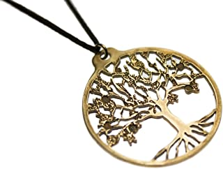 product image for Tree of Life Peace Bronze Pendant Necklace on Adjustable Natural Fiber Cord