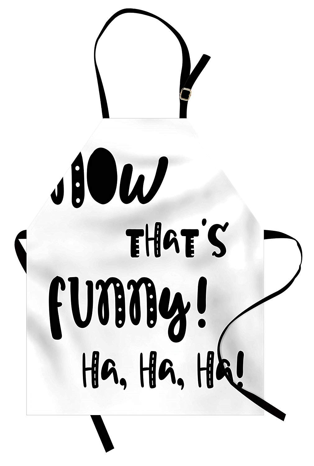 Sodika funny words apron kitchen bib apron adjustable for cooking baking gardening unisex machine washable vintage doodle typography with fun letters