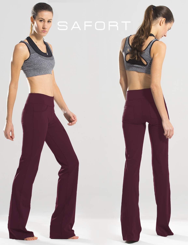Pantalon de Yoga avec Jambe Semi-/évas/ée Quatre Poches Jambe Longue Safort 71cm//76cm//81cm//86cm Rntrejambe R/égulier Pantalon Evas/é
