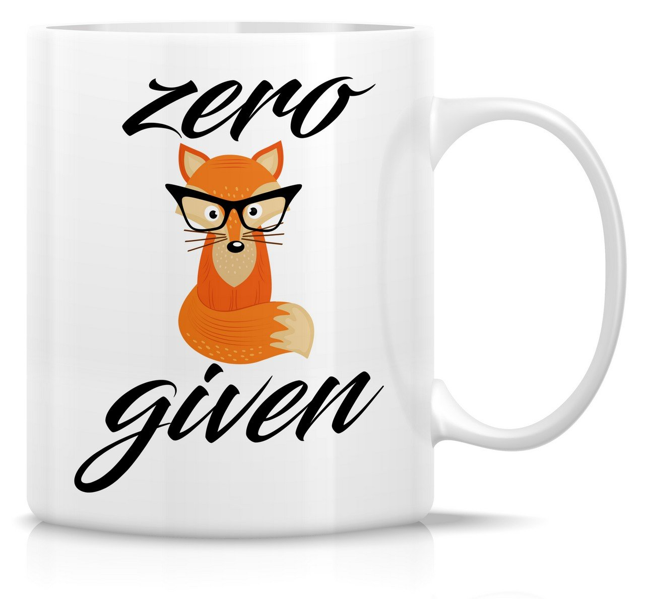 Retreez Funny Mug - Zero Fox Given 11 Oz Ceramic Coffee Mugs - Funny, Sarcasm, Sarcastic, Motivational, Inspirational birthday gifts for friends, coworkers, siblings, dad or mom. RTZ-MUG11-00023-WHT
