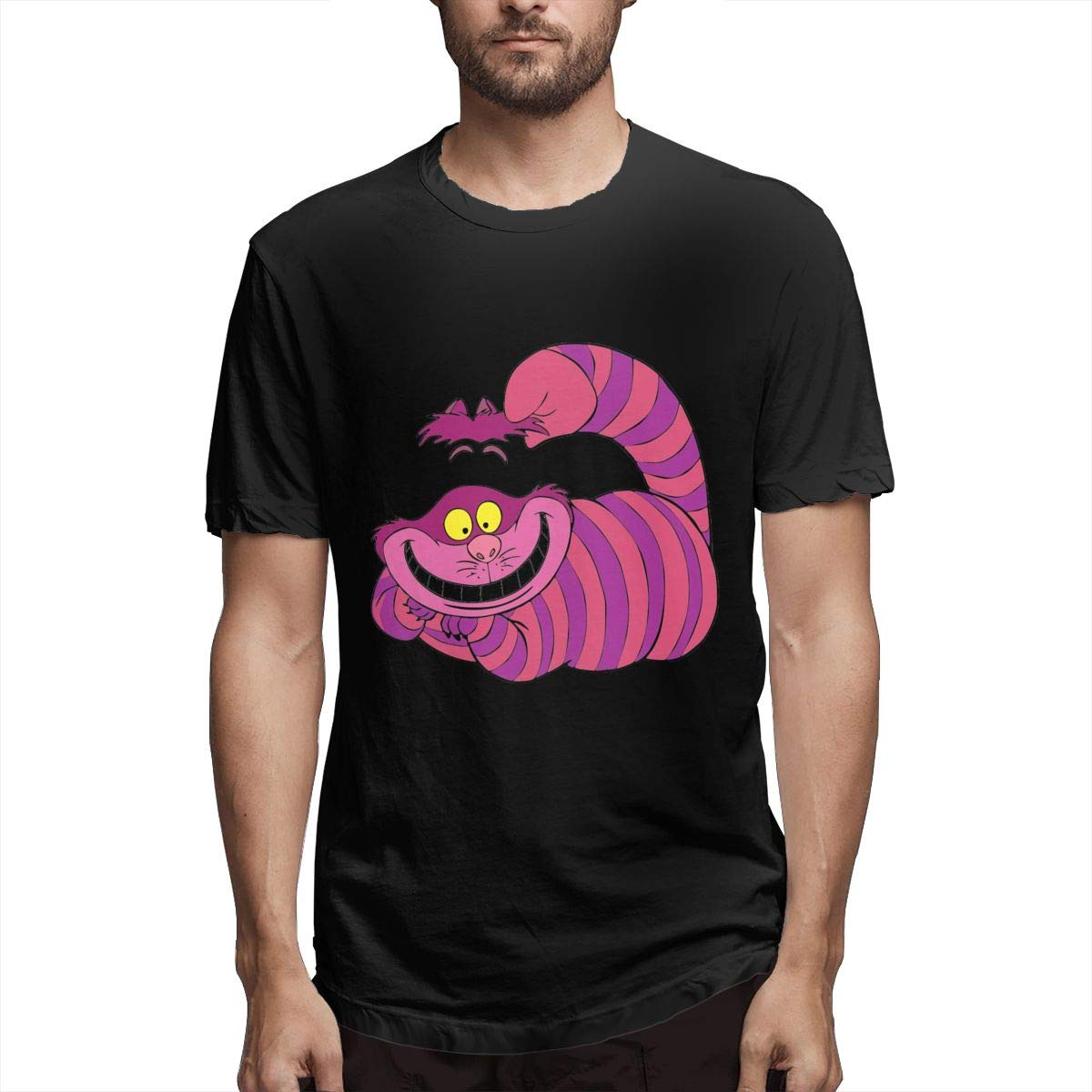 Lerzincser Mens Alice in Wonderland Cheshire Cat Humor Athletic Shirts