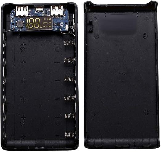 siwetg (Sin Batería Doble Salida USB 6X 18650 Batería DIY Power Bank Box Holder Case para Teléfono Móvil Tablet PC: Amazon.es: Hogar