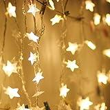 Oplon Home Garden Decorazioni Natalizie Star Pendant LED Light String Luci per Esterni