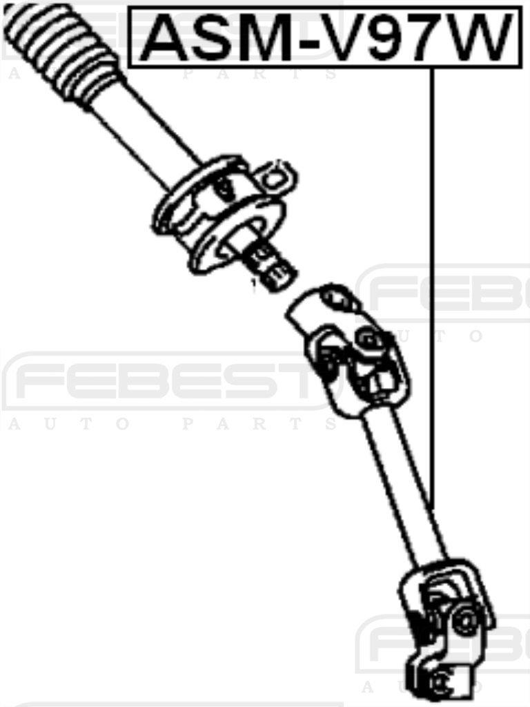 Febest ASM-V97W Steering Column Joint Assembly
