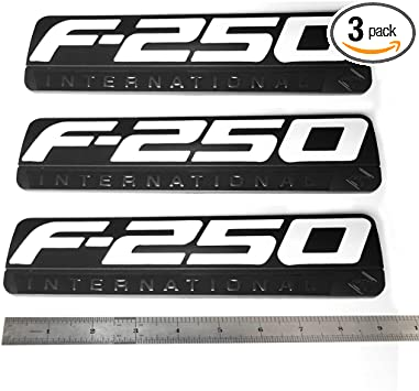 2 NEW BLACK CUSTOM 6.0L DIESEL POWERED F250 F350 SUPER DUTY TRUCK BADGES