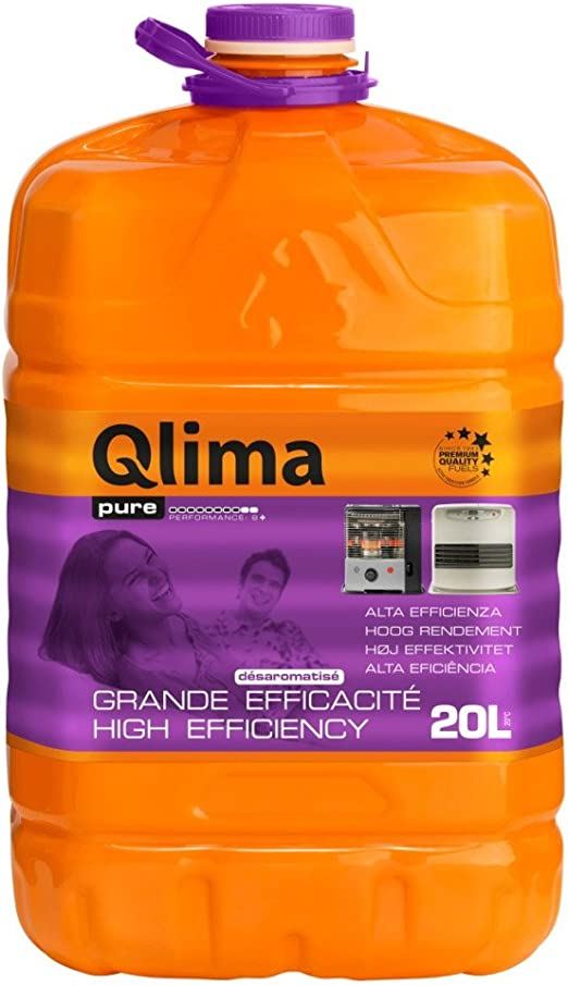 Qlima - Combustible líquido universal para estufas, inodoro, 20 litros, calefacción Pure