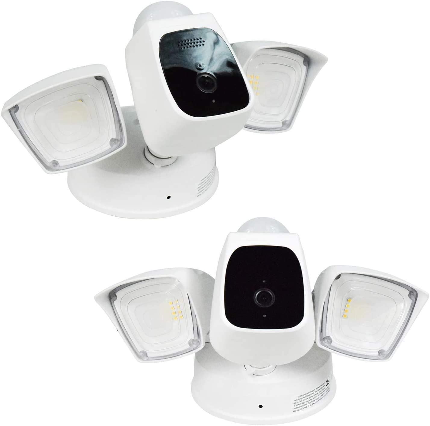 Home Zone Security Bright LED Security Flood Light with 1080p Wi-Fi Camera (2-Set)