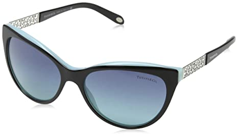 2fcc684309 Image Unavailable. Image not available for. Colour  Tiffany And Co. Women s  Gradient TF4119-80559S-56 Black Cat Eye Sunglasses