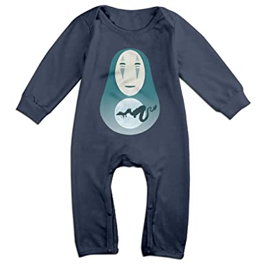 447f134a3c78 Cute Studio Ghibli Spirited Away No-Face Climbing Clothes For Newborn Baby  Navy - Blue -  Amazon.co.uk  Clothing
