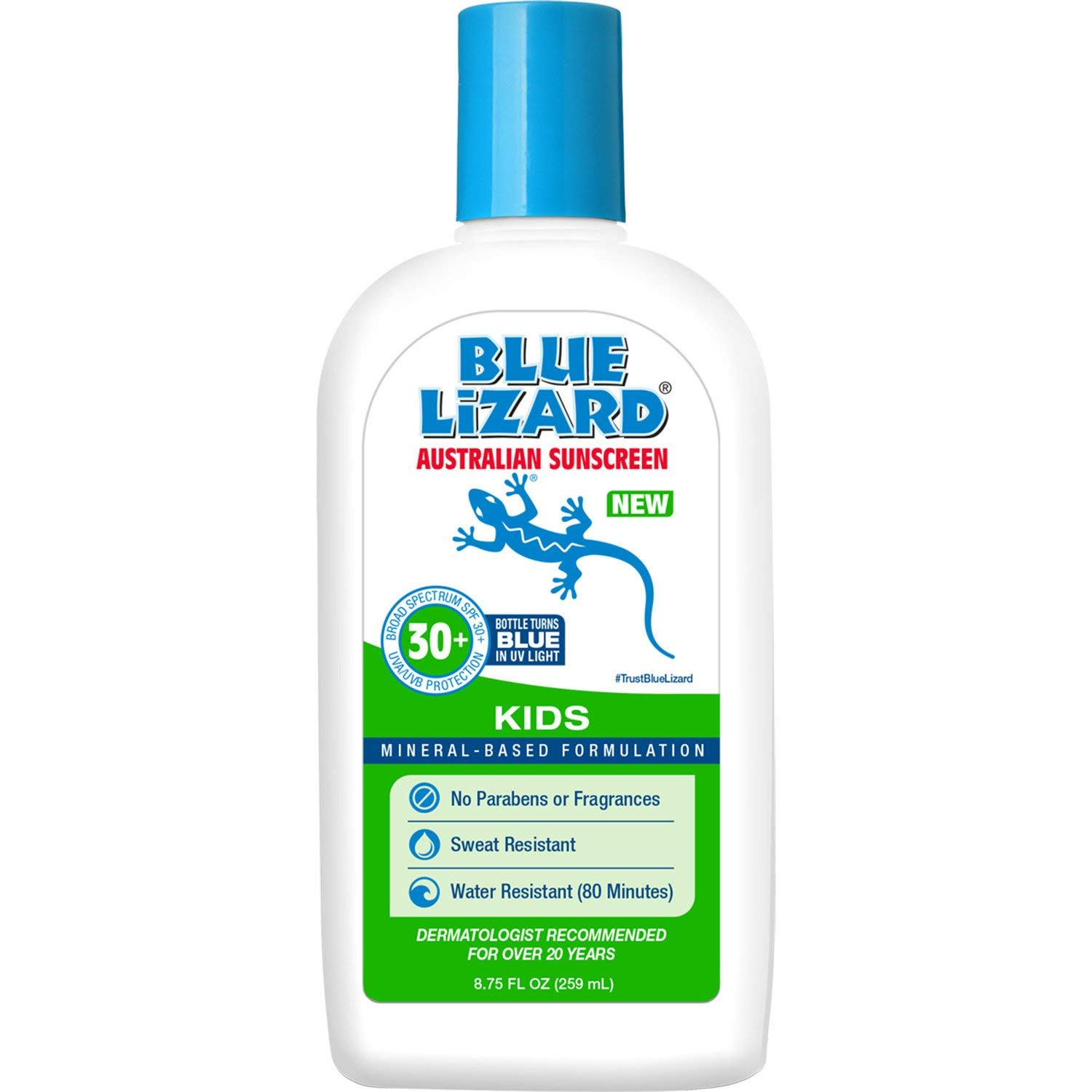 Blue Lizard Australian Sunscreen - Kids Sunscreen, SPF 30+ Broad Spectrum UVA/UVB Protection - 8.75 oz. Bottle