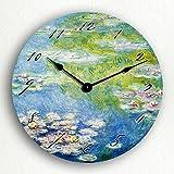 Cheap Monet's 1908 Water Lilies 12″ Silent Wall Clock