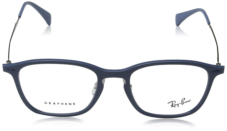1c61cce159 Amazon.com  Ray-Ban Unisex RX8955 Eyeglasses Light Blue Graphene 51mm   Clothing