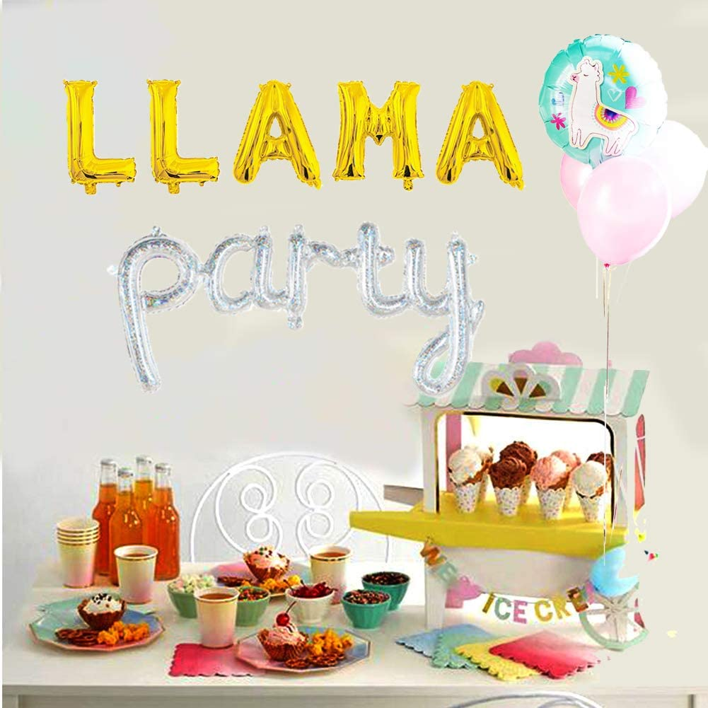 Cactus Bunting,Mexican Party Decoration Lama Bunting Lama Party Luau Party Decoration Summer Party Balloons