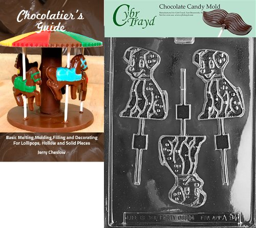 Cybrtrayd Bk-A094 Dalmation Lolly Animal Chocolate Candy Mold (Mold Dalmation Chocolate)