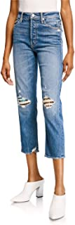 product image for MOTHER Superior - The Tomcat High-Rise Straight Leg Jeans in Pray for Hidden Gems