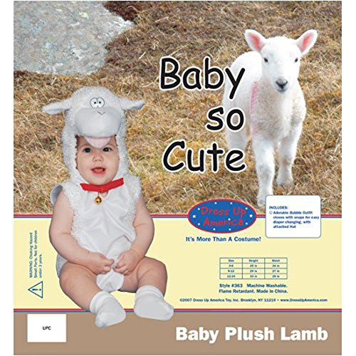 Dress Up America Cute Little Baby Lamb Costume - 24 Months