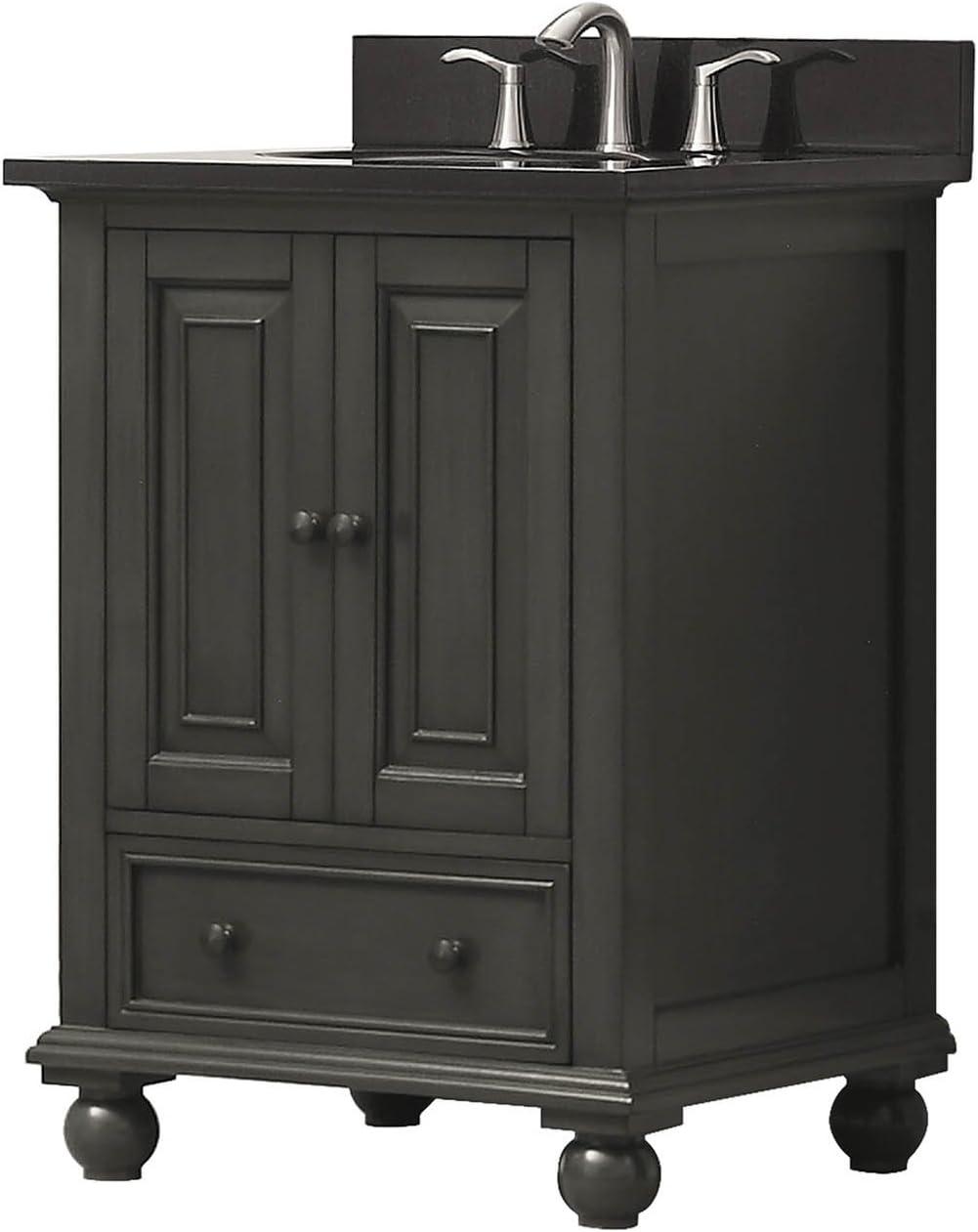 Avanity Thompson 25 in Vanity Combo in Charcoal Glaze finish with Black Granite Top