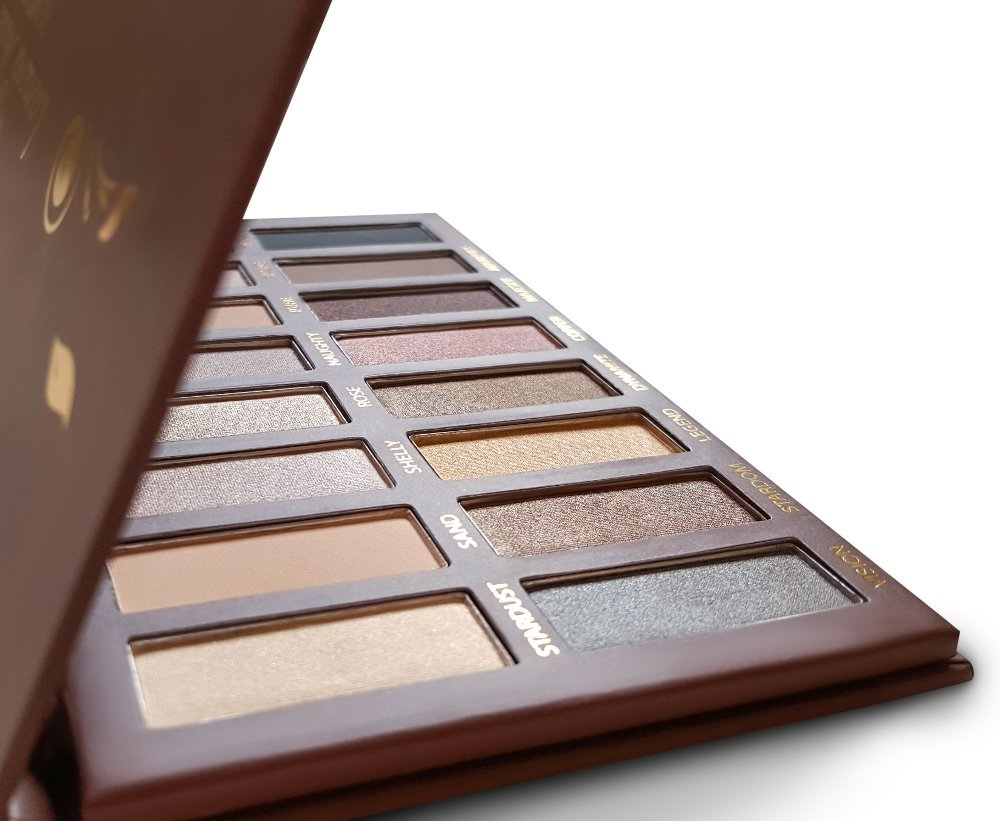Best Pro Eyeshadow Palette Makeup - Matte + Shimmer 16 Colors - Highly Pigmented - Professional Nudes Warm Natural Bronze Neutral Smoky Cosmetic Eye Shadows - Lamora Au Naturel Lamora Beauty