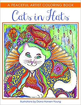 amazoncom cats in hats a peaceful artist coloring book 9781682302194 diana hansen young books - Artist Coloring Books