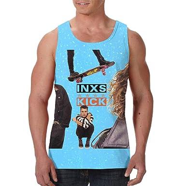 c61519cd8218b Amazon.com  CarterH INXS Kick Men s Classic Sleeveless Tank Top Tee   Clothing