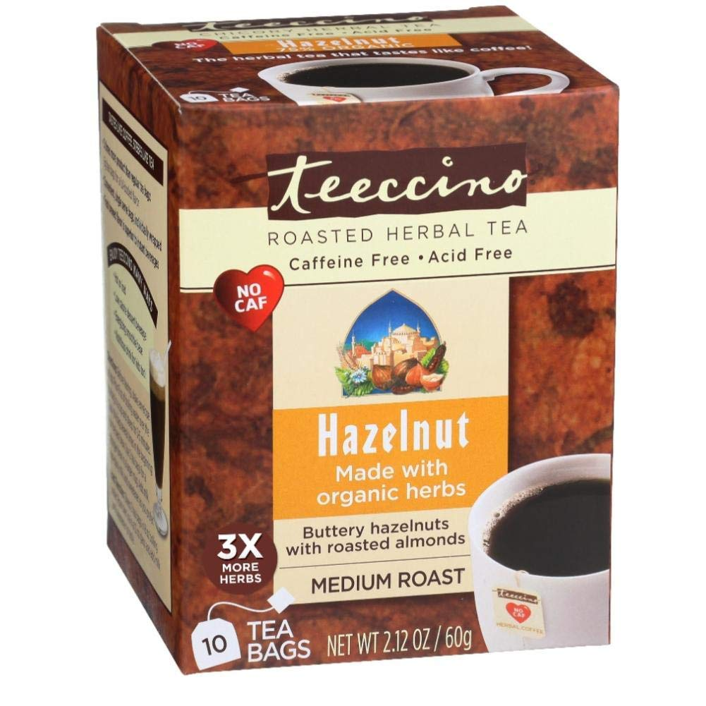 Teeccino Hazelnut Herbal Coffee 10 Tea Bags