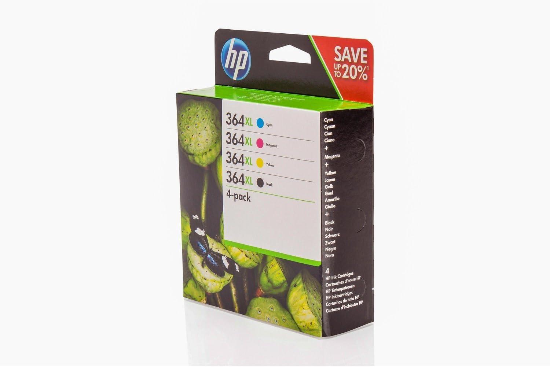 De Tinta original para HP Photosmart Premium B 210 HP 364 X L n9j74ae – 4 x Premium Impresora de tinta – Negro, Cian, Magenta, Amarillo – 1 x 550 & 3 x 750 Páginas: Amazon.es: Oficina y papelería