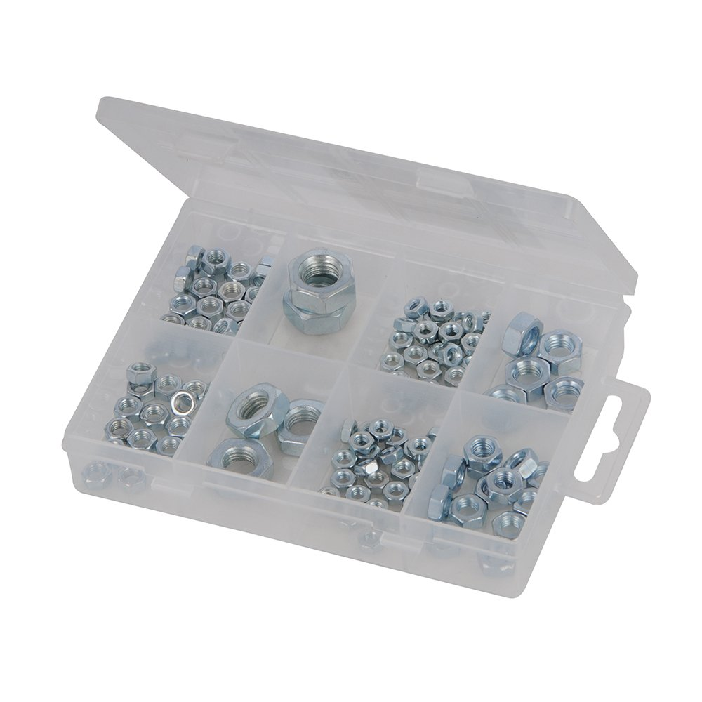 Fixman 755343 - Pack de 108 tuercas hexagonales, color plata