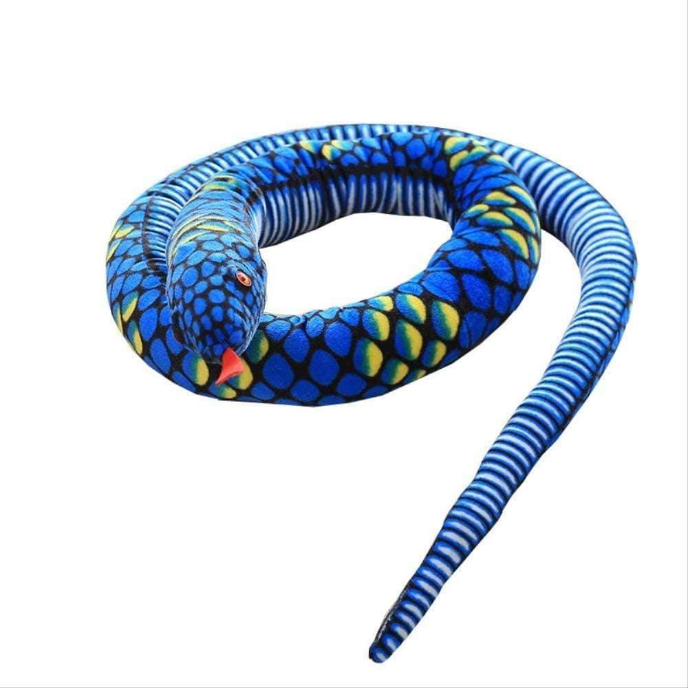 NC88 Juguete de Felpa de Serpiente 280cm Almohada Animal Serpiente Juguetes de Peluche decoración del hogar Parodia Juguete para Mascotas niños y niñas