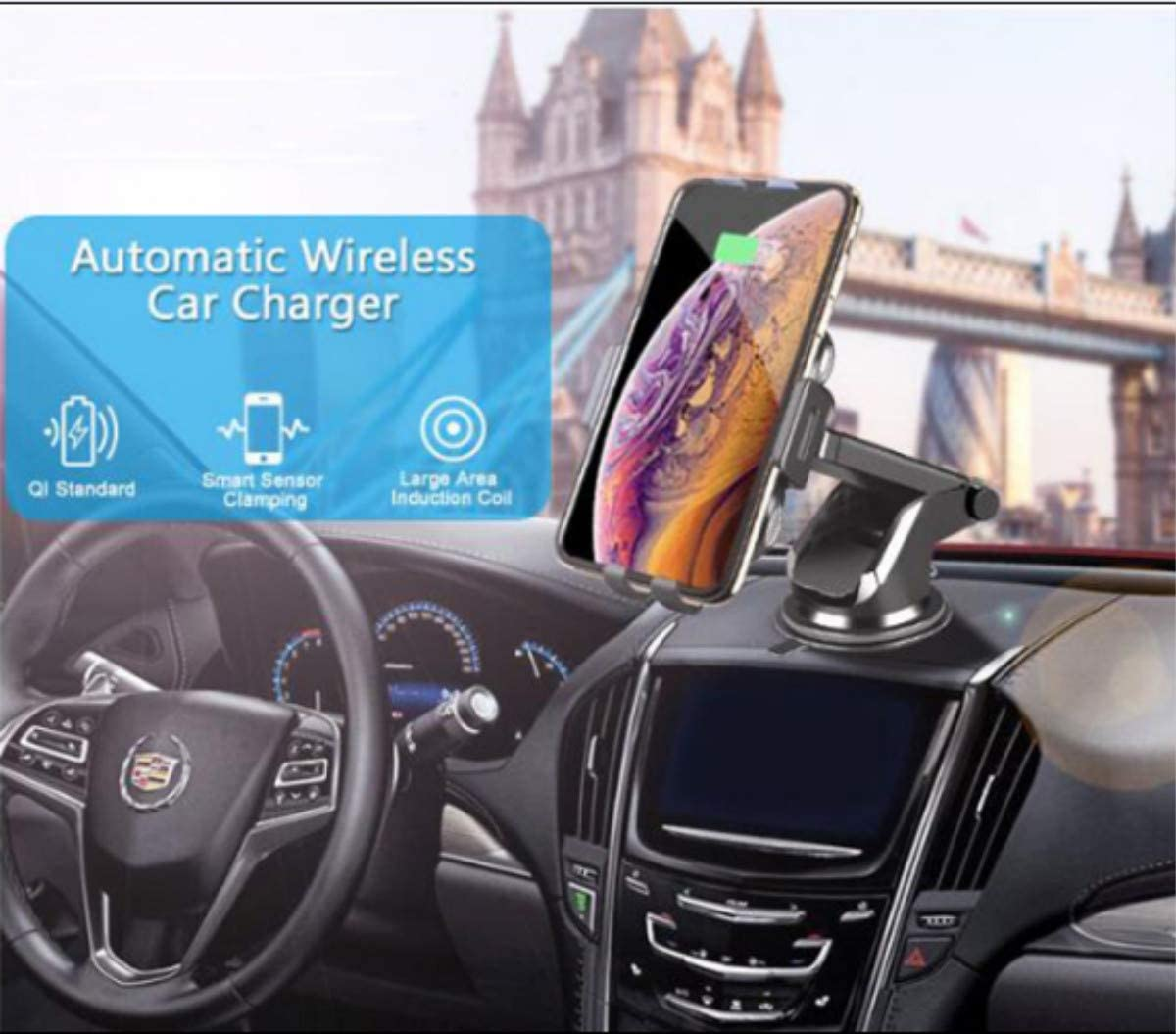 Samsung Galaxy S10//S10+//S9//S9+//S8//S8+ dolbiway Magnetic Wireless Car Charger 10W//7.5W Qi Fast Charging Car Charger Mount Air Vent Phone Holder Compatible with iPhone 11//11 Pro//Xs//Max//Xs//XR//X//8//8+