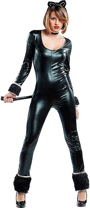 VENEZIANO Disfraz Gato Negro Vestido Fiesta de Carnaval Fancy ...