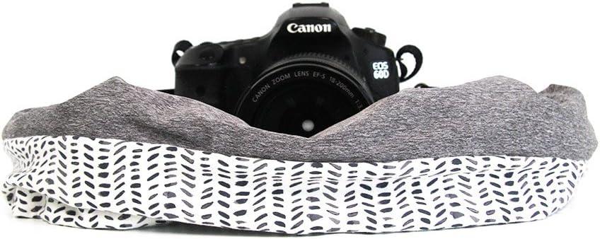 Mix|Match Scarf Camera Strap with Hidden Pocket; Comfortable /& Unique Flannel Shore Spice