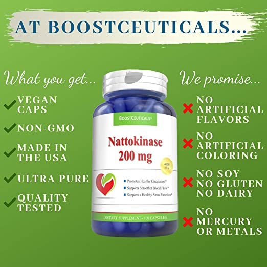 Amazon.com: nattokinase 200 mg 4000 FU 200 Count Suplemento ...
