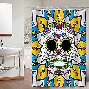 Shower Curtain Home Taro Duschvorhang Farbe Personlichkeit Tattoo Piraten Bad Vorhang Color