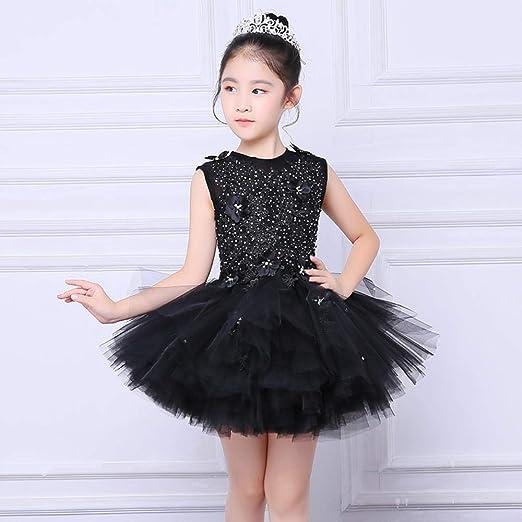 CYDKZMEPA Vestido de Noche de niña de Flores, Vestido de Princesa ...