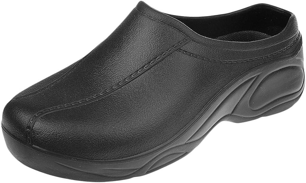 MagiDeal Zapatos de Enfermería Médico de Cocinero de Mujeres Hombres para Trabajar Plástico Sin Agujero Blanco/Negro