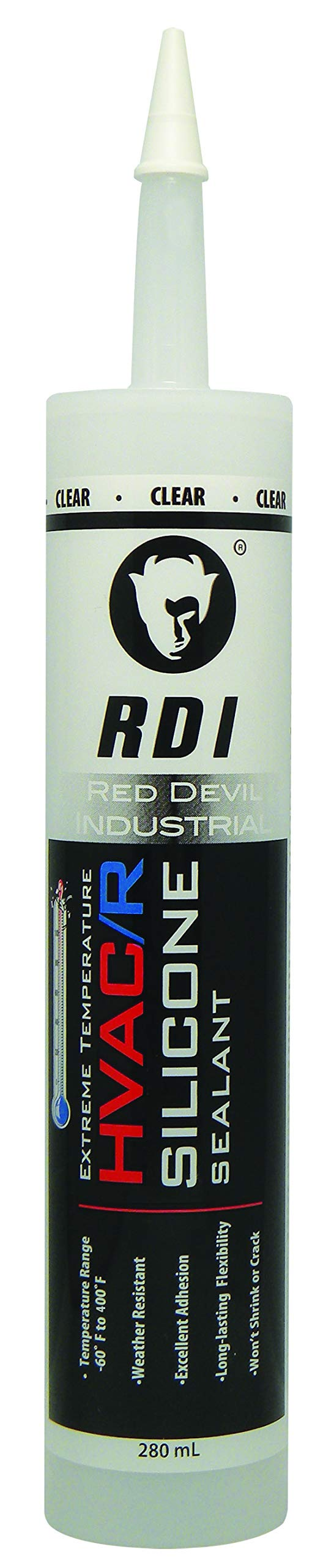 Red Devil 89712 0897 HVAC/R, 280 ml, Clear, Case of 12 Extreme Temperature Silicone Sealant, Pack, Piece by Red Devil