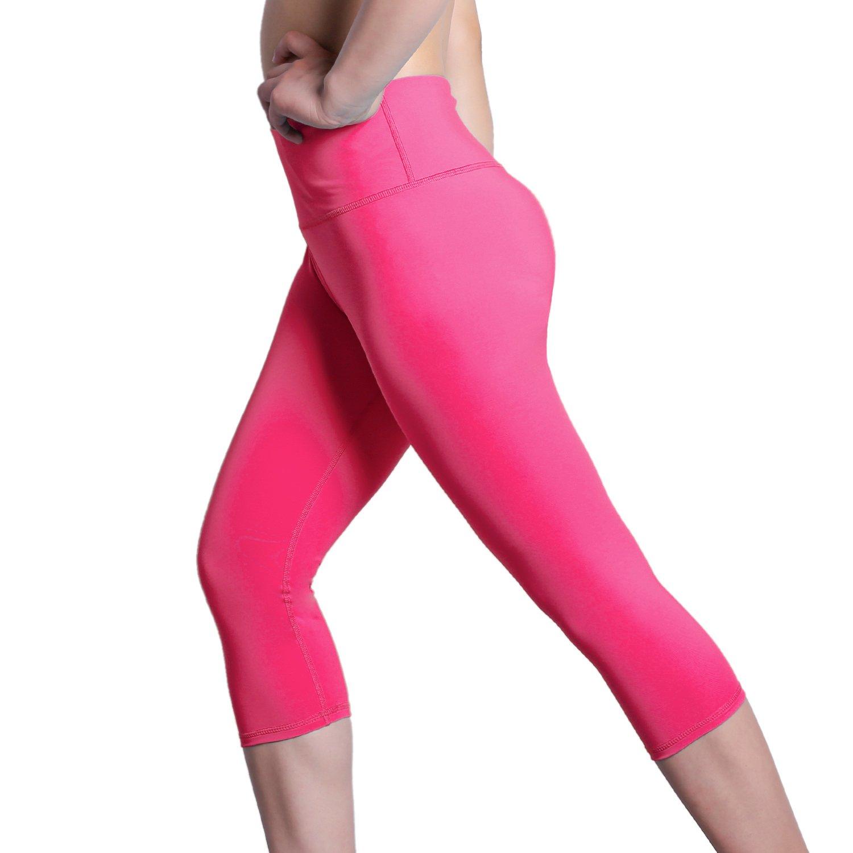 DREAM SLIM Women Middle Waist Yoga Legging Cropped Pants K500