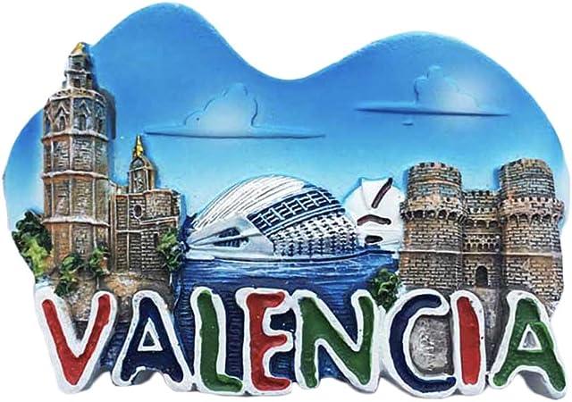 3D Valencia España Nevera Imán de Nevera Recuerdos Turísticos ...