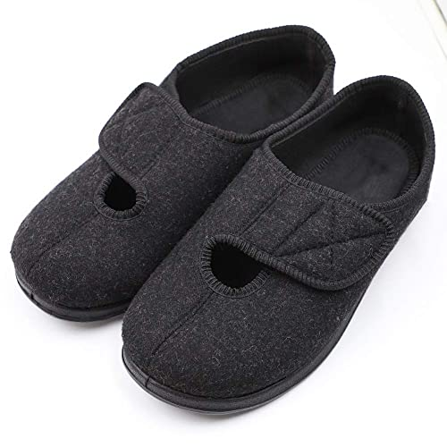 097a3f5fc6e6 Image Unavailable. Image not available for. Color  Men s Adjustable Closure  Diabetic Slippers Extra Wide Width Arthritis Edema House Shoes