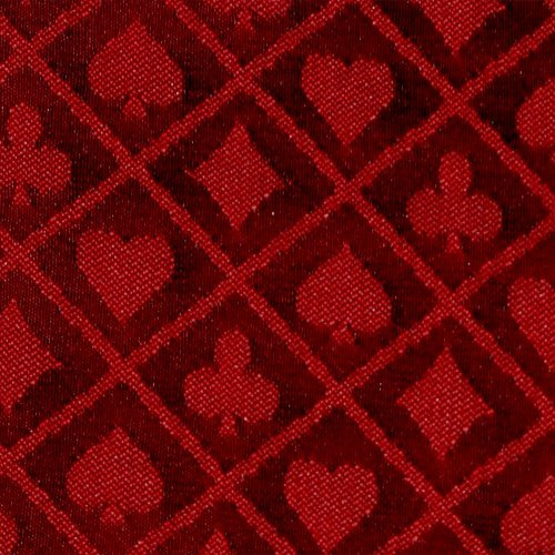 - 10' section of red two-tone poker table speed cloth - Polyester by Brybelly