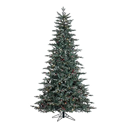 Amazon.com: Vickerman Crystal Balsam Frost Slim Pre-lit Christmas ...