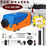 Singa-Z Car Heater 5KW 12V/24V Air Diesels Heater Remote Control LCD Monitor for RV Motorhome Trailer Trucks Boats Fast Heating