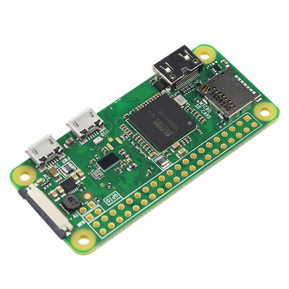 Cikuso Raspberry Pi Zero W Placa 1Ghz CPU 512MB RAM con WiFi Y Bluetooth Incorporados