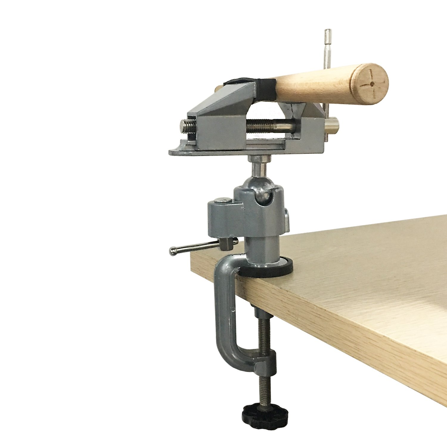 New Asahi 360 Degree Rotating Jaw Head Clamp Table Vice Work Bench Vise For Hobby Jewelry Inspection Universal Clamp Fixed Tools by New Asahi (Image #2)