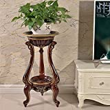 European Living Room Flower Stand Flower Pot Rack Green Plant Racks Size 393961cm ( Color : Brown )