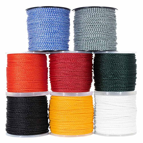 Hollow Braid Polypropylene Rope (1/2 Inch, 50 Feet, Black) - Barrier Rope - Trail Marking, Crowd Control, Golf Courses ()