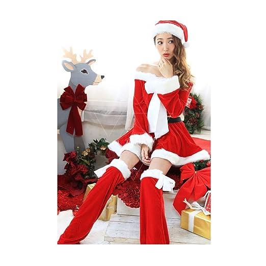 Lzhtb Disfraz De Papa Noel Mujer Vestido De Navidad Encantador ...