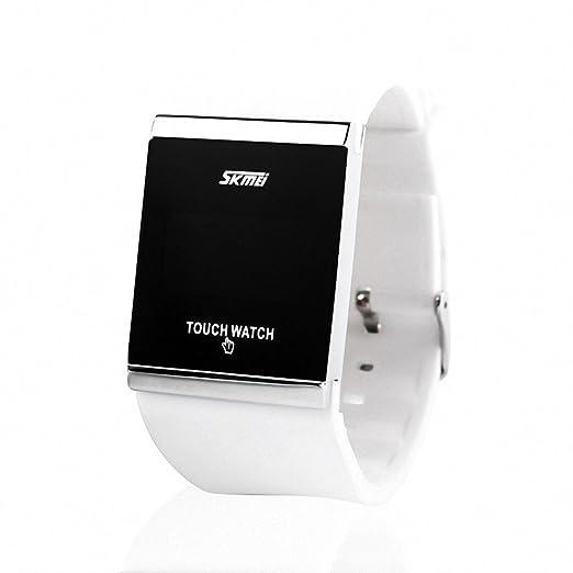 Skmei reloj Digital Unisex delicado ocio PU correa de caucho luminoso LED luz + caja de ahorro: SKMEI: Amazon.es: Relojes
